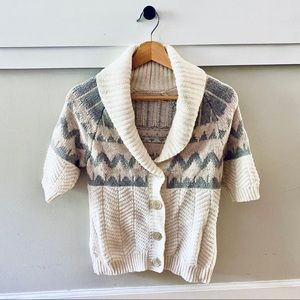 Old Navy Cowlneck Button Short Sleeve Cardigan EUC